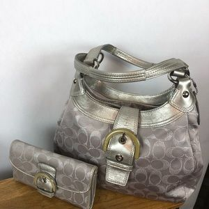 Coach Hobo bag with matching wallet